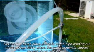 Plant for disinfection of water from tanks, wells, cisterns, spring...