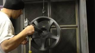 Powder Coating Wheels Silk Satin Black