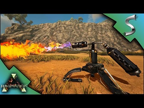 NEW S+ UPDATE! FLAMETHROWER TURRET, BLUEPRINT MAKER, HITCHING POST - Ark RAGNAROK [DLC Gameplay E64]