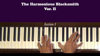 Handel Harmonious Blacksmith Var. II Piano Tutorial