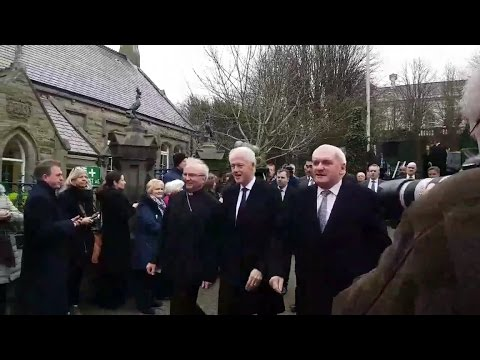 Bill Clinton Among Current and Former Leaders in Derry for McGuiness Funeral
