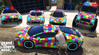 GTA 5 ✪ Stealing LUXURY Modified Police Cars with Franklin ✪ (Real Life Cars #103)