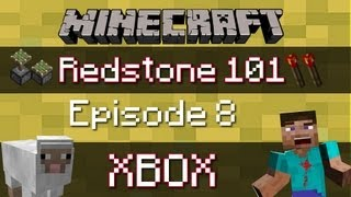 Minecraft Xbox 360 : SUPER COMPACT 3x3 PISTON DOOR FOR XBOX (Hidden Door) (Redstone Tutorial)