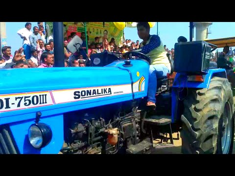 Sonalika 750 vs John deere 5050E tractor tochan in Haryana