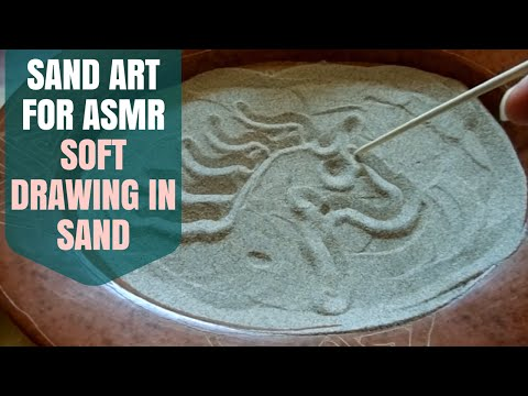 ASMR Soft Spoken - Binaural Sand Drawing & Sand Sounds