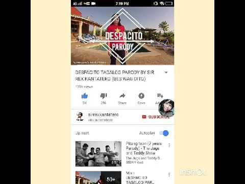 Lyric prank despacito parody (bes wag dito)ang song na ginawa ko i put the link bellow