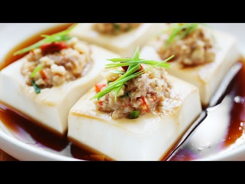 Steamed Tofu with Minced Meat - 豆腐蒸肉