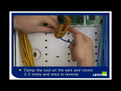 hqdefault how to install a category 5e telephone module youtube leviton 47605-c5b wiring diagram at nearapp.co