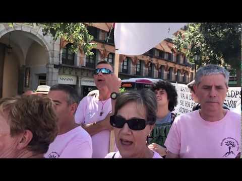Vecinos de la Serranía conquense protestan en Toledo contra las macrogranjas