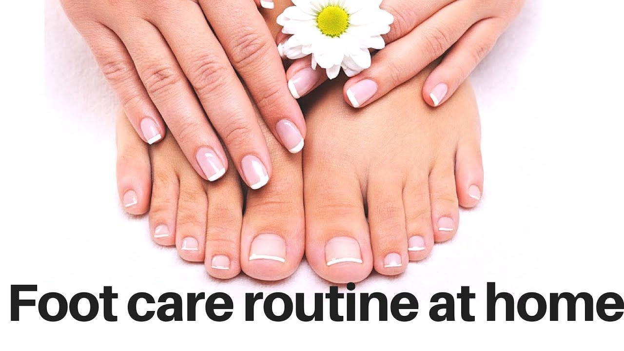 Regular foot care at home