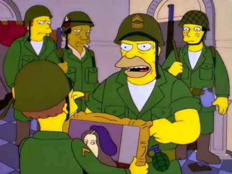 Los Simpsons Pelotón Del Pez Volador Youtube