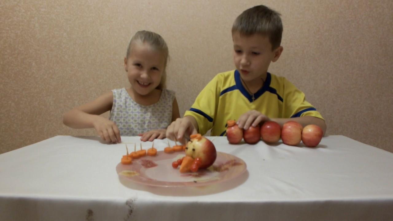 Как сделать гусеницу из яблок фото 327