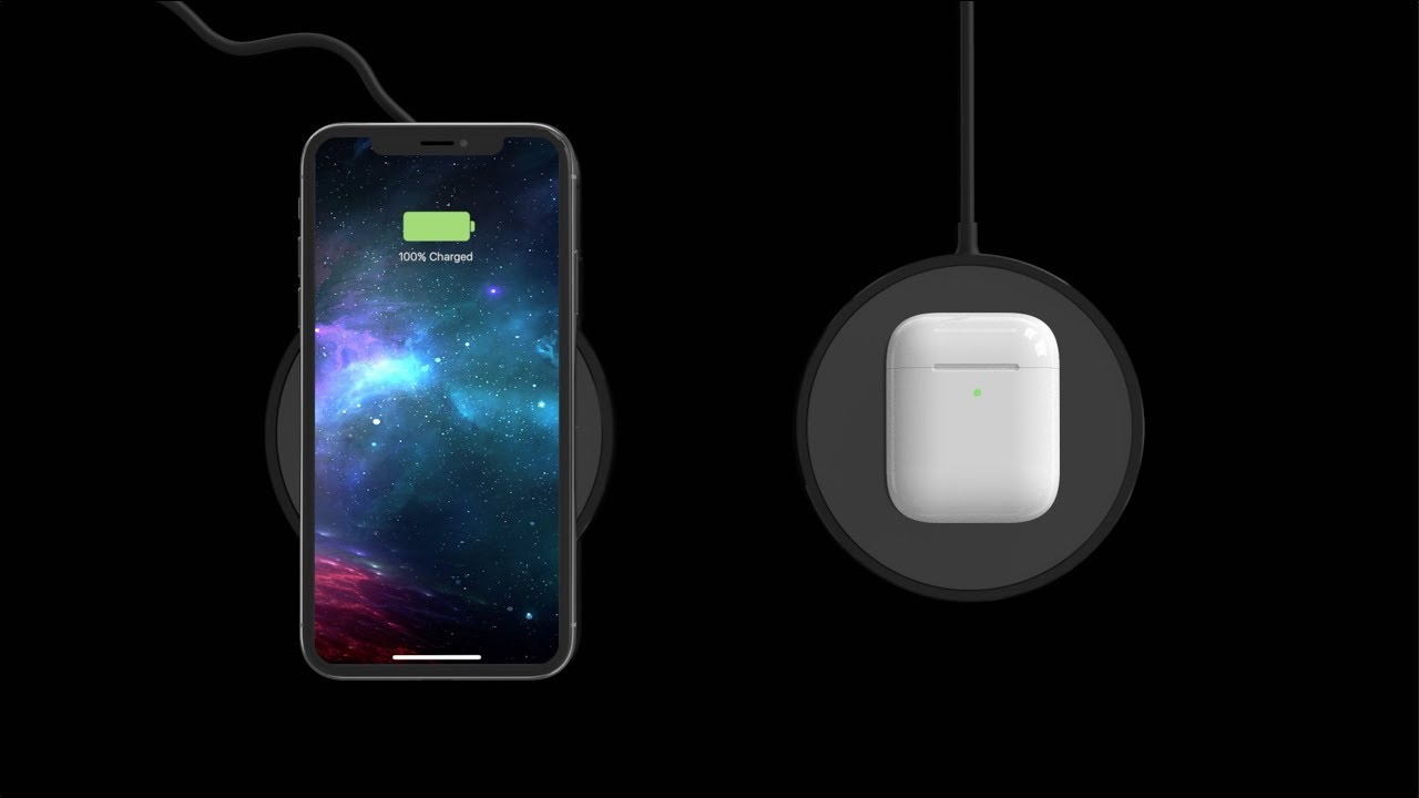 designer fashion b6a09 e32d3 mophie wireless charging pad for Apple iPhone & AirPods
