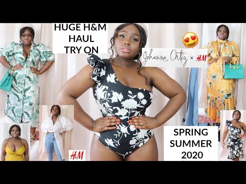 HUGE H&M HAUL | TRY ON & STYLING SPRING SUMMER 2020 |NEW IN H&M X JOHANNA ORTIZ |Fashions Playground