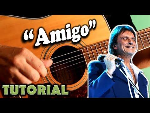 Como tocar AMIGO en guitarra con acordes fácil