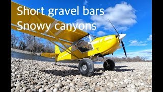 Landing on a Short Gravel Bar!  Bush plane canyon run.  Where is Trent Palmer?