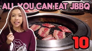 How much Japanese BBQ can she eat!? | YOKOHAMA