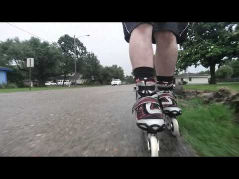 #17 First awesome rain skate using my new Rollerblades
