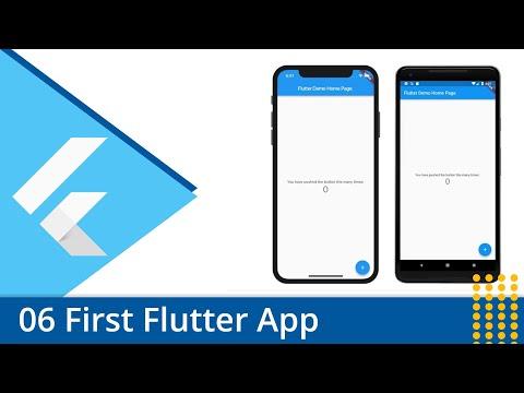 Flutter Tutorial - 06 Build a First Flutter App - YouTube