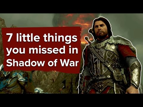 7 little things you missed in Shadow of War