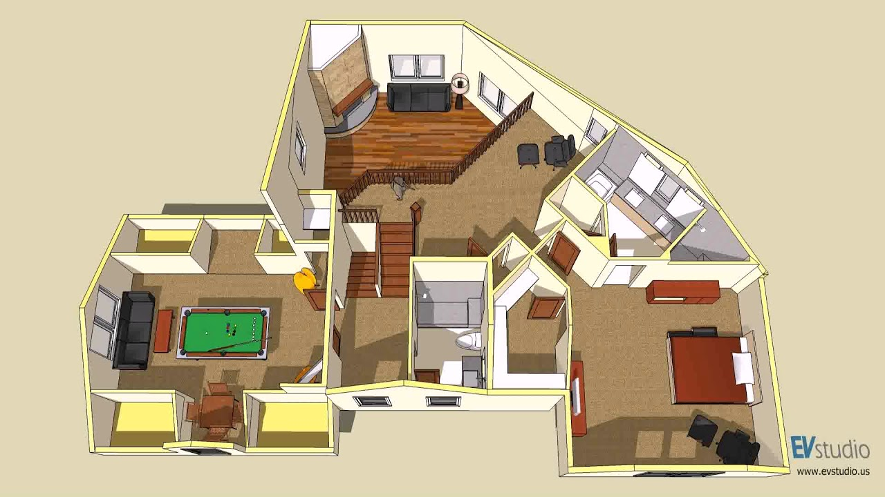 House floor plans virtual tours youtube for Virtual home plans