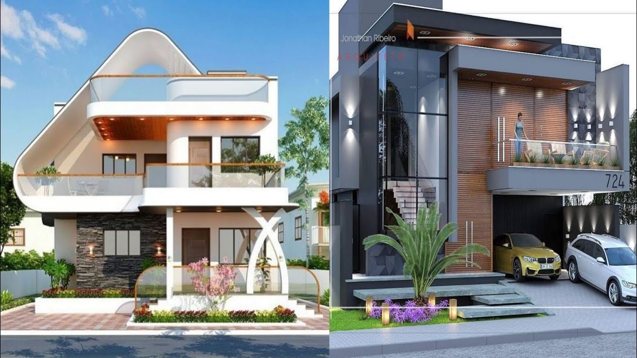 So Beautiful Modern House Front Design Front House Designs Ideas Youtube