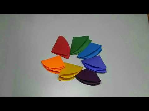 paper rainbow umbrella and its wind chime (DIY Paper Crafts )