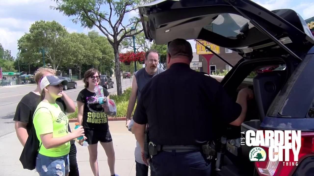 Garden city police mobile hydration stations youtube - Garden city michigan police department ...