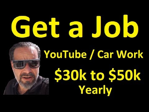 Work on YouTube / Cars ~ Now Hiring ~ Get a Job Online Grow