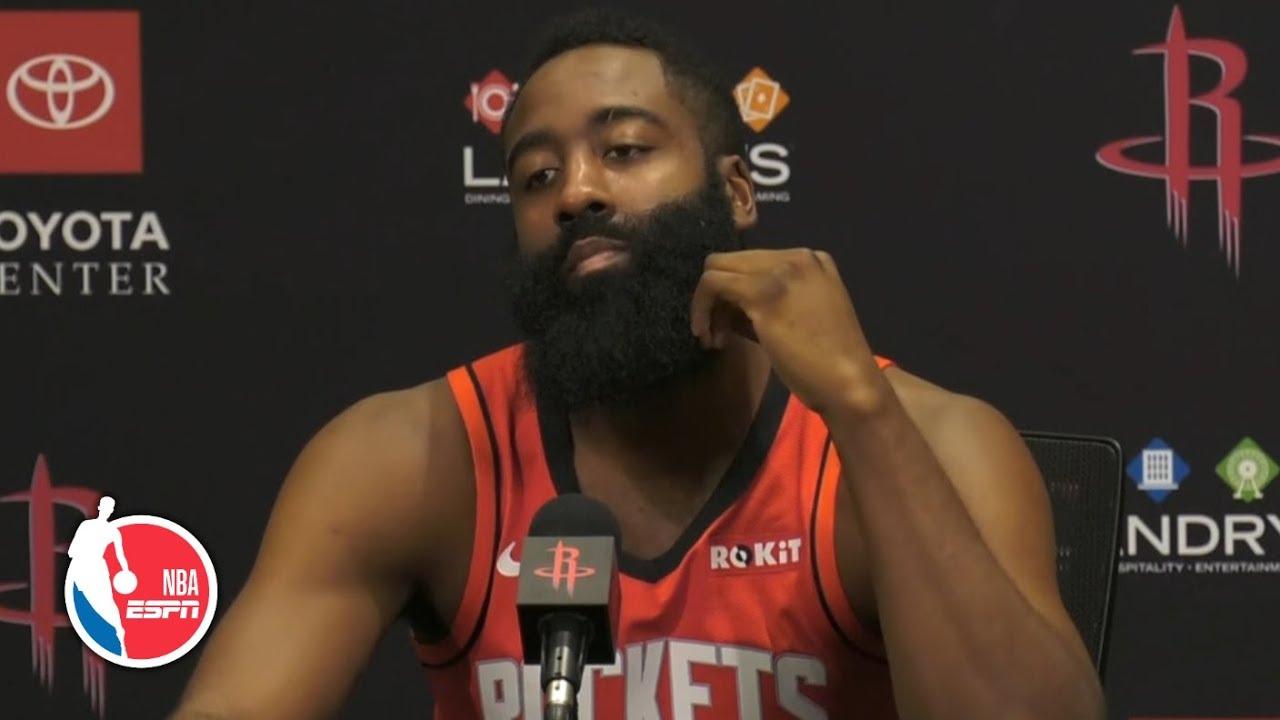 James Harden Full Press Conference Houston Rockets 2019 Nba Media Day Youtube