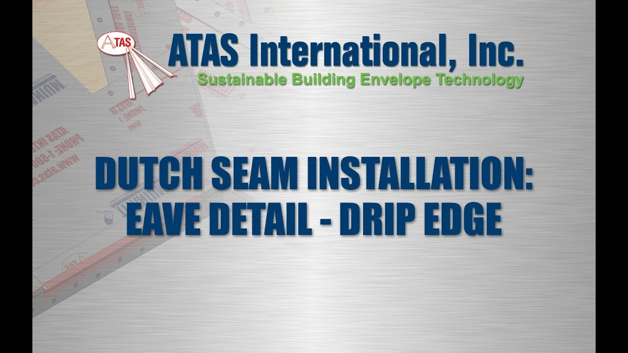 Metal Roof Installation Drip Edge Details Youtube