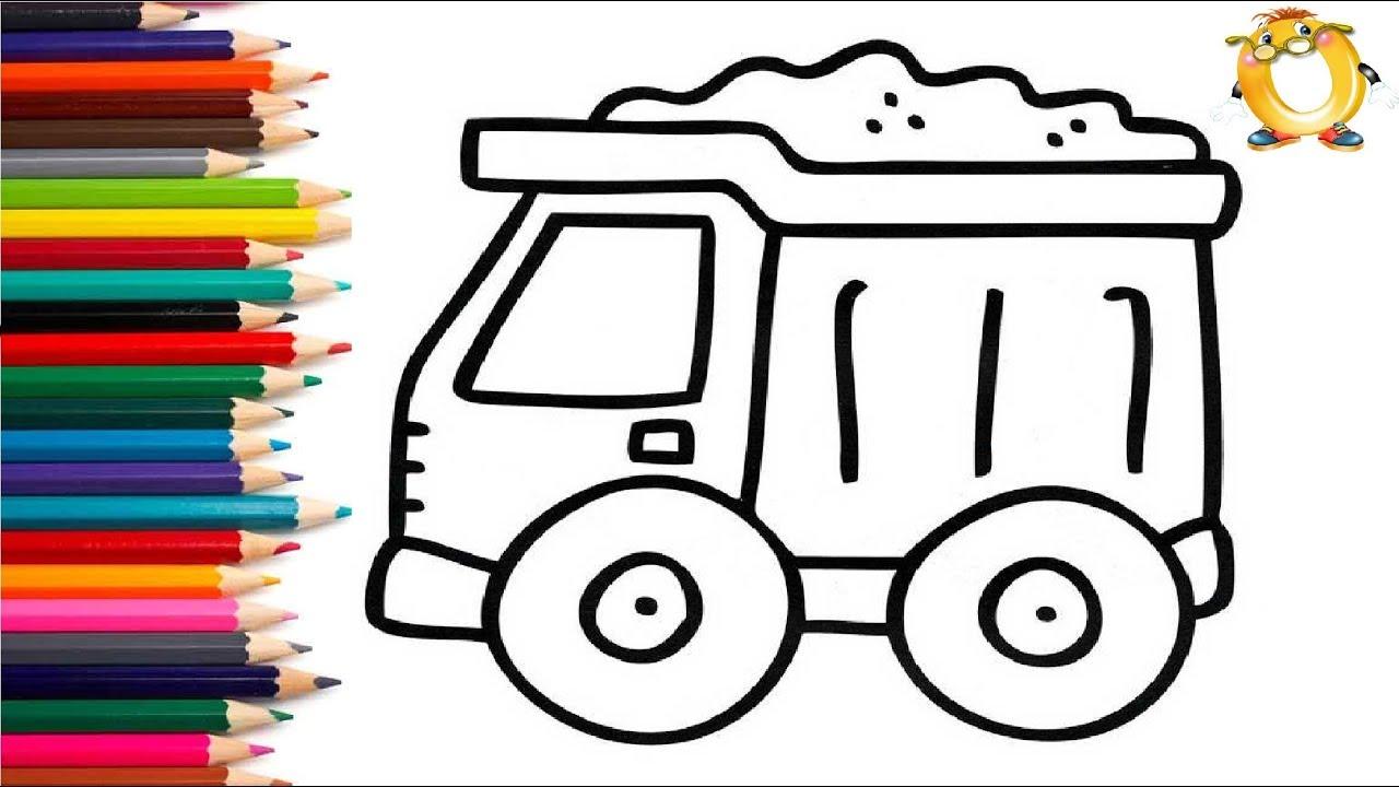 Раскраска для детей МАШИНКИ. Мультик - Раскраска. Учим ...