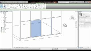 REVIT - Placing a Door Into a Glass Curtain Wall Tutorial