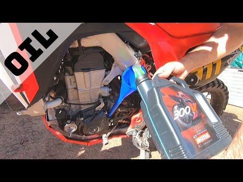 How To: Honda CRF450L Oil Change Using A Works Connection EZ Oil Drain System