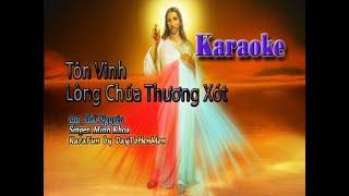 [Karaoke Beat] Tôn Vinh Lòng Chúa Thương Xót - Lm. Thái Nguyên (Karaoke Đơn Ca)