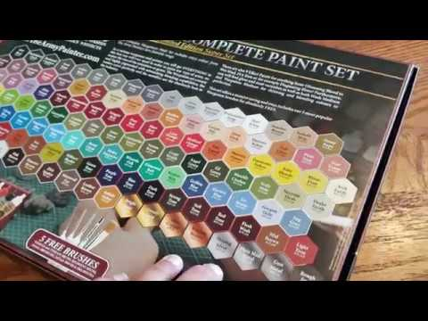 Army Painter Wargamers Complete Paint Set Unboxing
