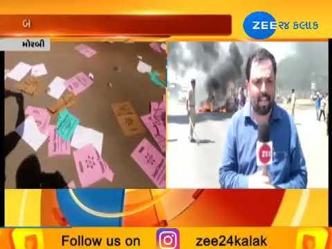 Morbi: Protesters burn tyres during 'Halvad Bandh' after attack on Bajrang Dal coordinator