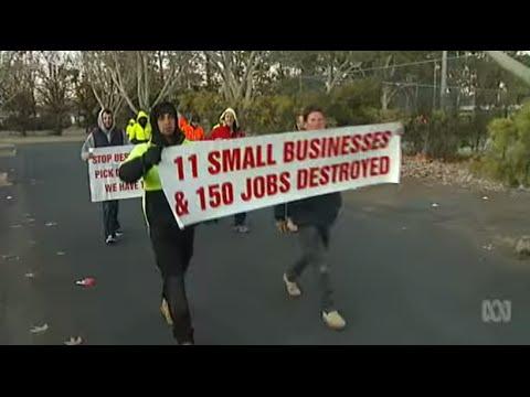 Protest Against CFMEU in Canberra