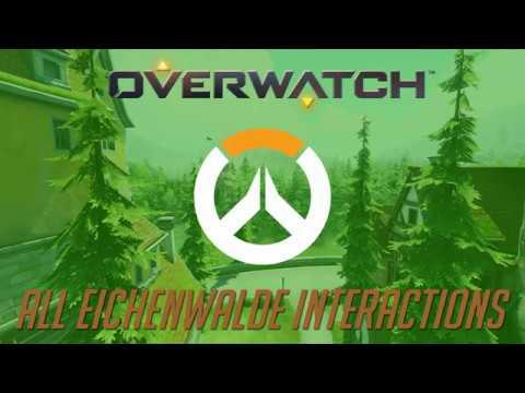 Overwatch - All Eichenwalde Interactions