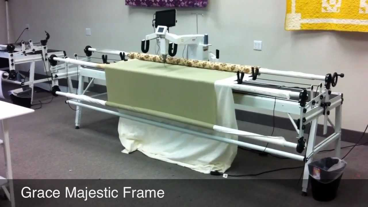 grace company majestic machine quilting frame free speed control