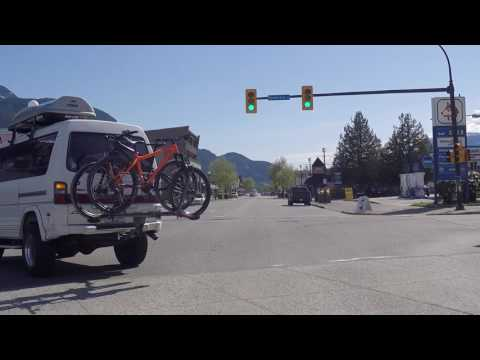 Squamish BC Canada - Driving in Downtown Area - Main Road in the City