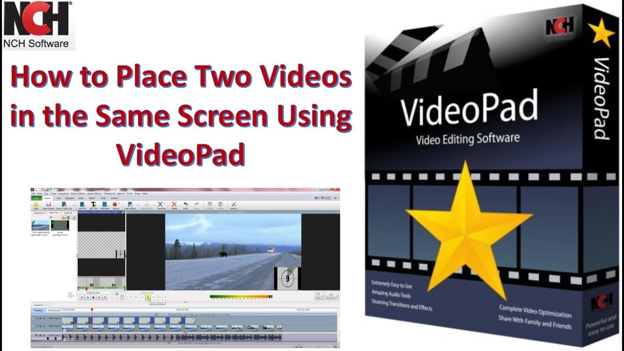 How to Place Two Videos in the Same Screen Using VideoPad ...
