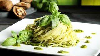 Паста с соусом Песто - Соус Песто рецепт - How To Make Pesto Pasta Recipe