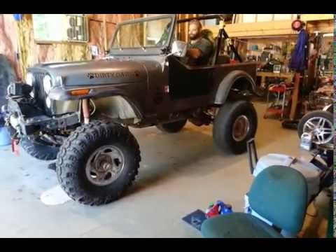 SBC CJ7 first tire spin after frame and axle swap