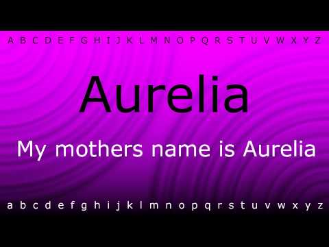 Here I will teach you how to pronounce 'Aurelia' with Zira.mp4