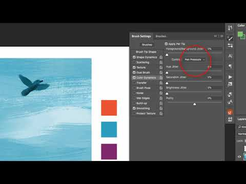 How To Produce Visible Brush Strokes In Photoshop With Color Dynamics