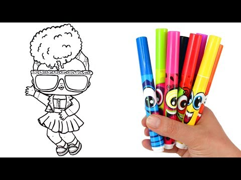 How to Draw LOL Doll Thrilla | LOL Surprise Under Wraps Doll Drawing and Coloring for Kids