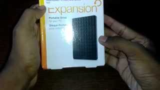 Seagate Expansion 1TB Portable External Hard Drive Unboxing