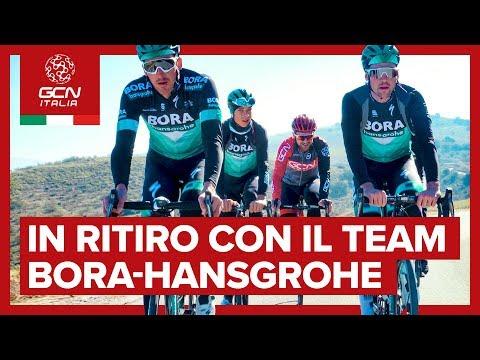 In ritiro con il team BORA-Hansgrohe