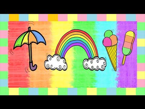 Deutsch lernen: die Farben 2 - YouTube